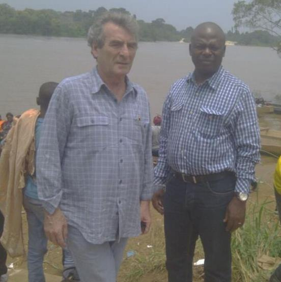Fabian and Cliff on Site in Cameroon